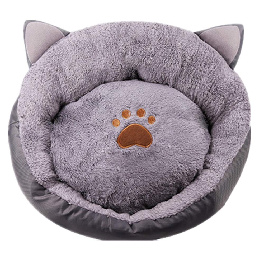 L Cat Nest Winter Warm Four Seasons Universal Net Red Cat Sleeping Bag Deep Sleep Ear Shape Kennel Washable Cat Supplies (Size   L)