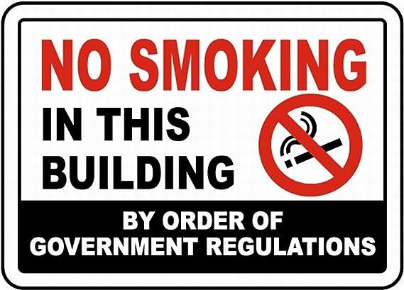 HiSign No Fumar Cartel de Pared de Chapa Retro Hierro ...