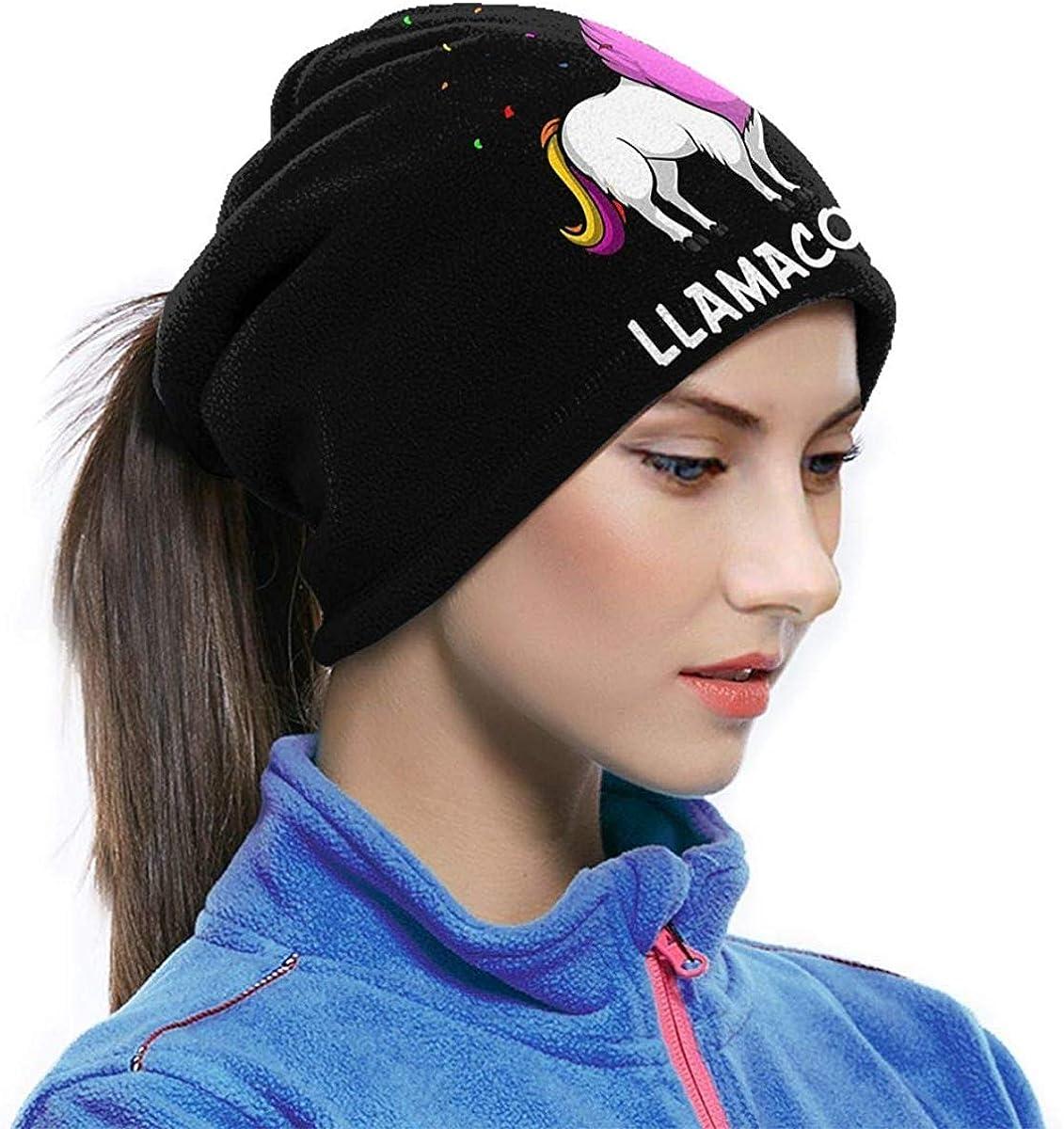 Llama Unicorn Microfiber Neck Warmer Balaclavas Soft Fleece Headwear Face Scarf Mask for Winter