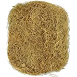 SunGrow Coconut Fiber, 1.5-Ounce, Comfortable Bedding for Small Birds and Animals, Sterilized Coco Bird Coir, Great for Playing, Chewing, Decorating Vanda Basket