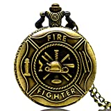 New Brand Mall Fire Fighter Design Case for Quartz Pocket Watch with Chain