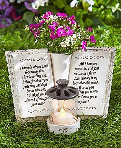 Garden Decor Vase - Garden Memorial Book