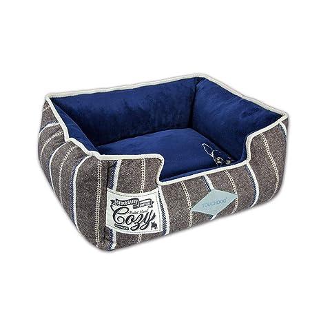 635 Cama para Perros Retro Rayas Lavables Suministros para Mascotas para la Cama del pequeño criadero