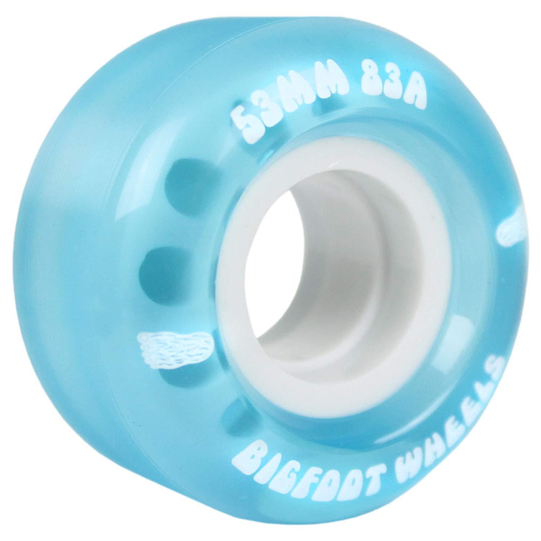 Bigfoot Skateboard Wheels 55mm 83A Soft Cruiser Filmer Wheels Blue (Set of 4) by Bigfoot Wheels