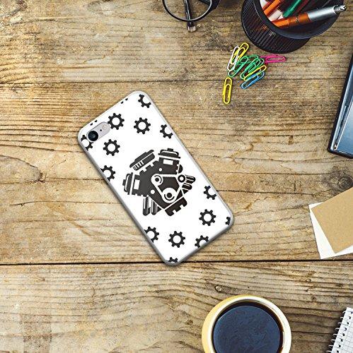 WoowCase Hülle Case für [ iPhone 7 ] Handy Cover Schutzhülle Motorwagen