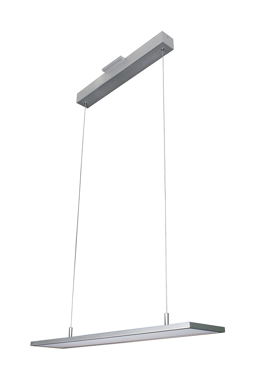 "VONN VMC31610AL Atria 33"", Adjustable Suspension Fixture, Modern Lighting LED Linear Chandelier 32.5""L x 6.25""W x 120"" (5"") H Silver"