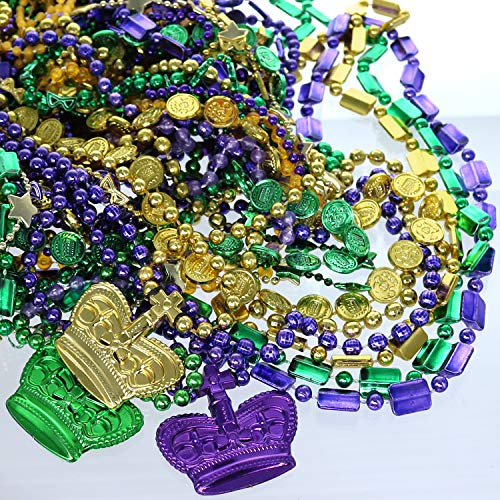 Huge collection of colorful beaded necklaces