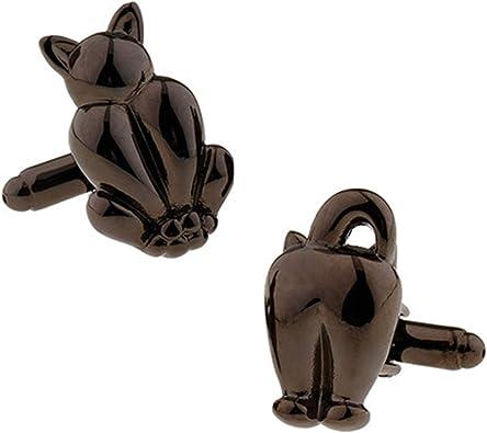 AYDOME Gemelos Boda Novio Gemelos de Hombregemelos de Hombre Gemelos Gato Gemelo Camisa Hombre Negro: Amazon.es: Joyería