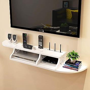 SCH Estante de Pared Estante de Pared TV WiFi Router Set Top Box ...