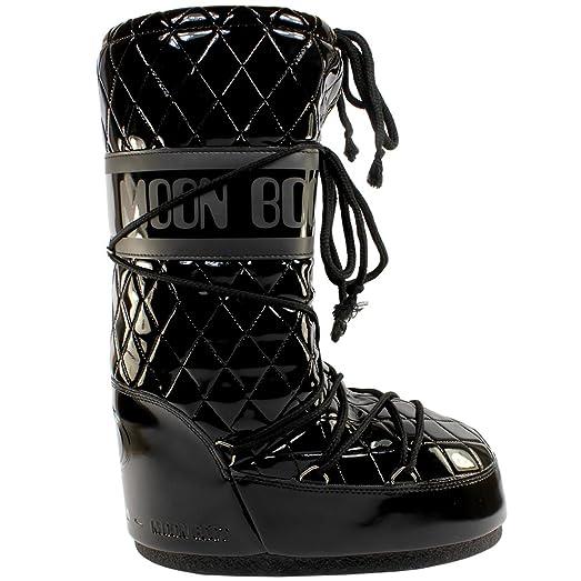 Womens Tecnica Moon Boot Original Queen Snow Winter Waterproof Boots -  Black - 7-8.5