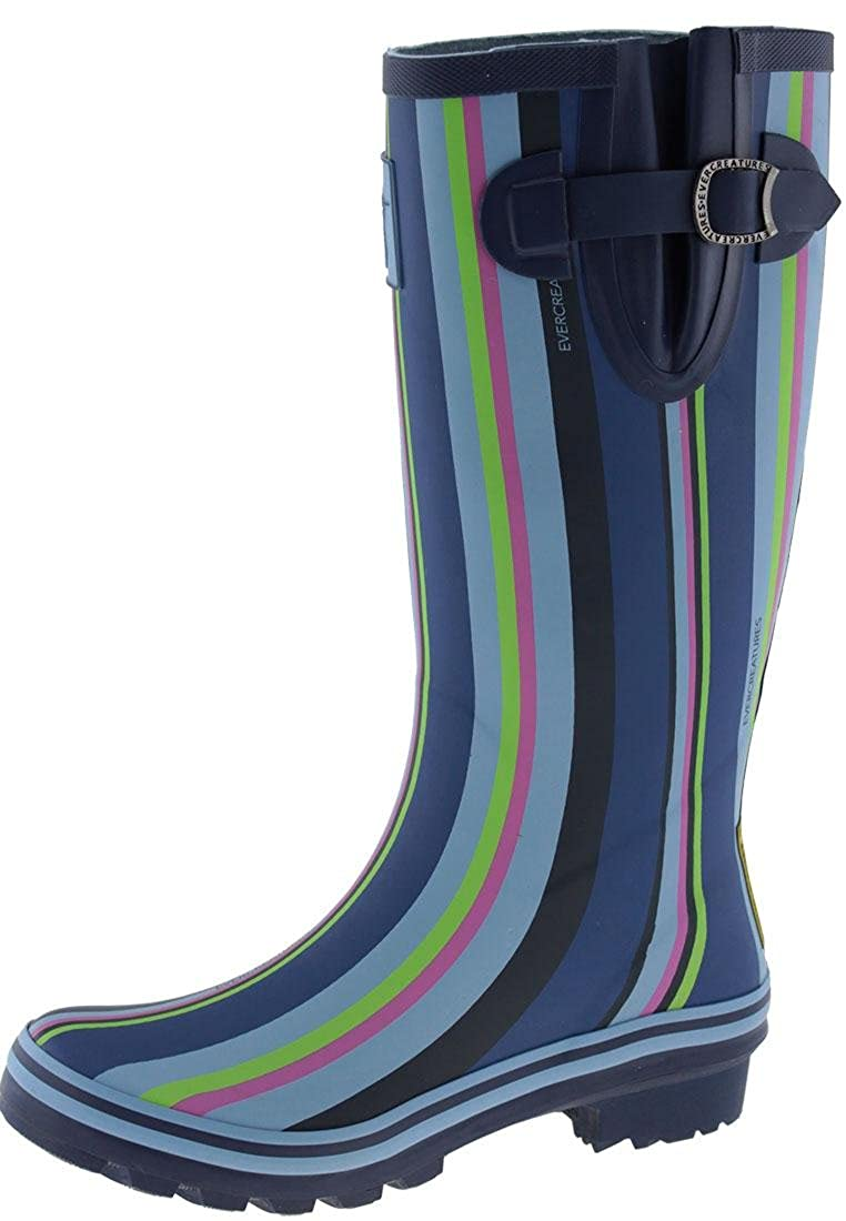 Evercreatures Ladies Funky Various Rubber Wellies Blue Funky Striped Pattern - Striped Various Sizes - 793a5af - fast-weightloss-diet.space