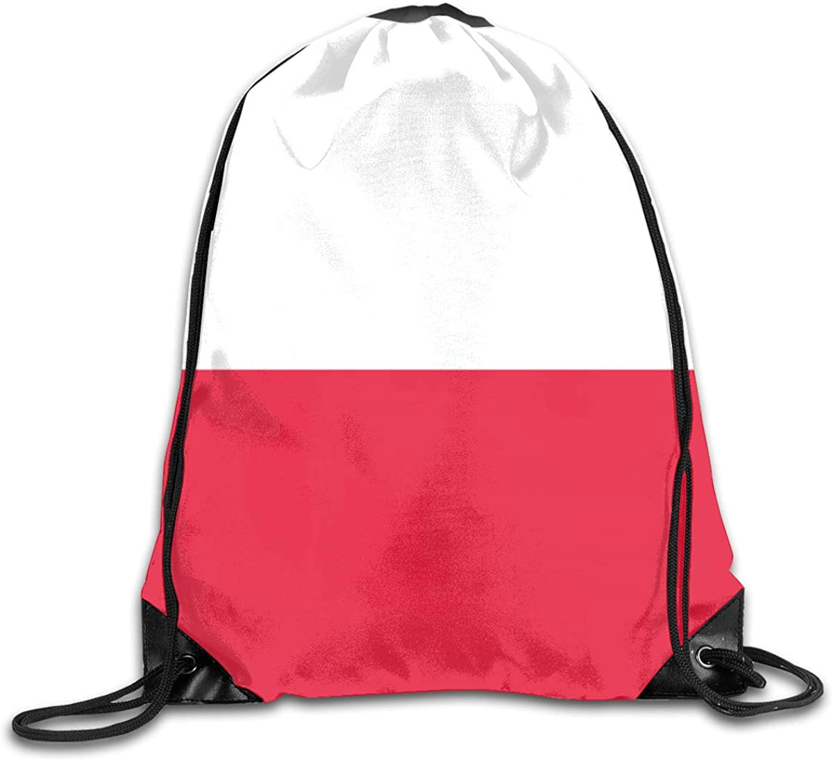 Poland Flag Beam Mouth Backpack Pull Rope Shoulder Bag Outdoor Sports Leisure Bag