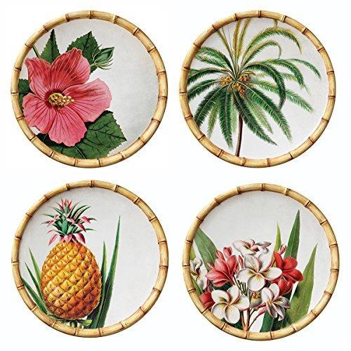 Merritt International Botanica Bamboo 9in. Melamine Salad Plates - all 4 themes