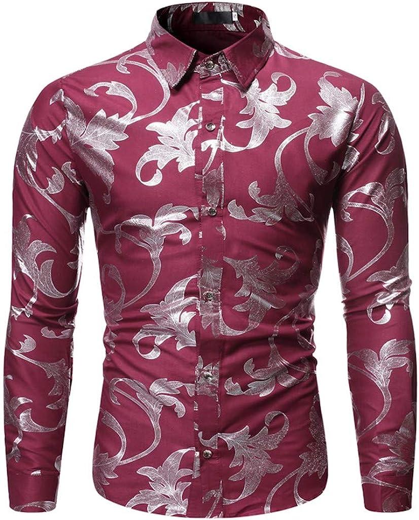 SUCES - Camiseta de Manga Larga para Hombre, diseño de Flores ...