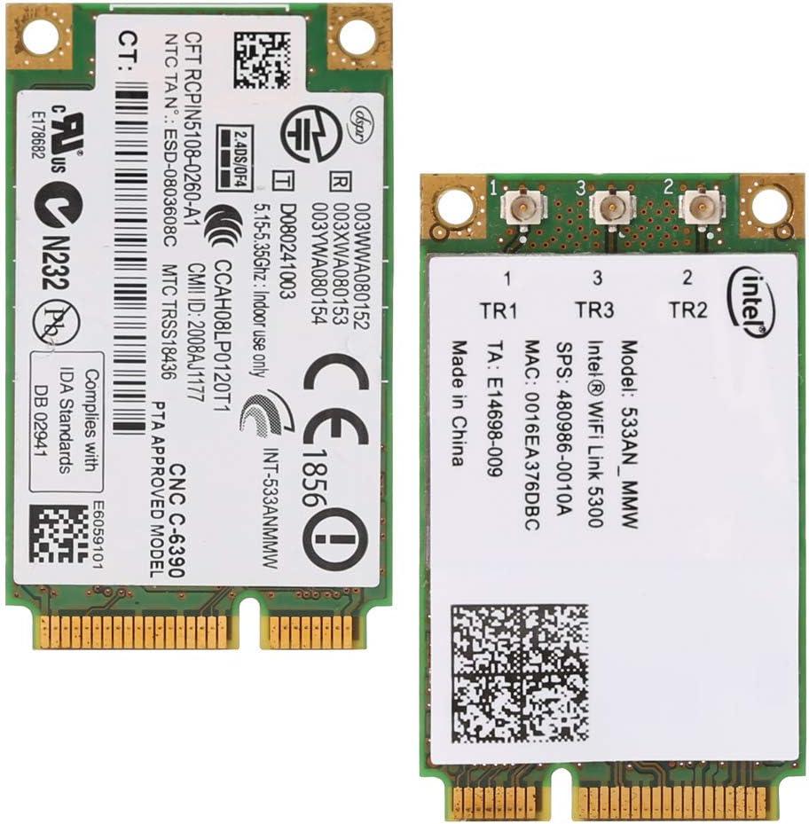 Chg 2.4Ghz WiFi 5300 533AN/_MMW Carte r/éseau sans Fil Mini PCI-E sans Fil 5Ghz 300M 450M