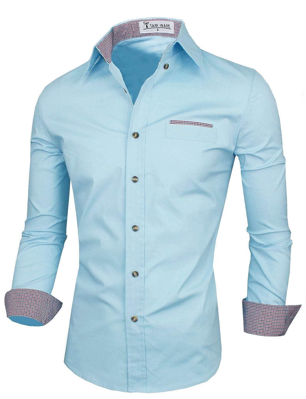 TWNMS310S TAM WARE Mens Premium Casual Inner Layered Dress Shirt