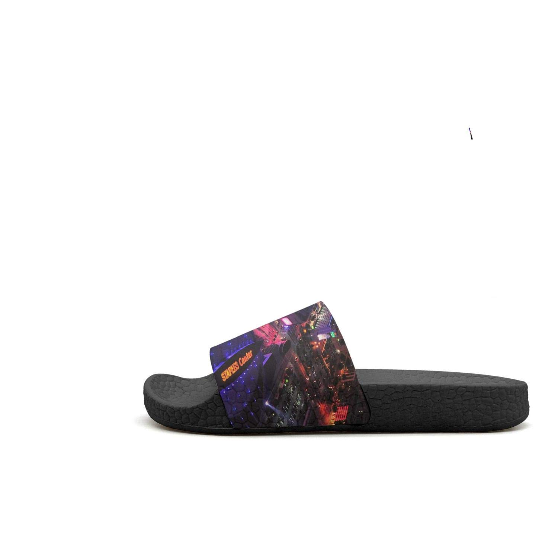 ADIDII Mens Printed Non-Slip Slides flip Flop Sandals La/_Bron/_Yellow/_Logo/_Basketball Summer Indoors