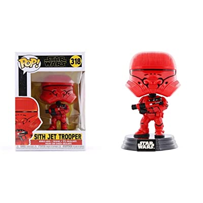 Funko Pop Star Wars The Rise of Skywalker: Sith Jet Trooper Bobble-Head #39880: Toys & Games