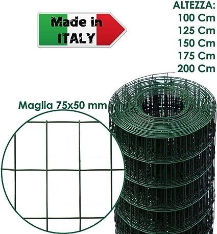 Rete Plastica Per Recinzioni Prezzi.Rotolo 25 M Rete Metallica Zincata Plastificata Elettrosaldata Per