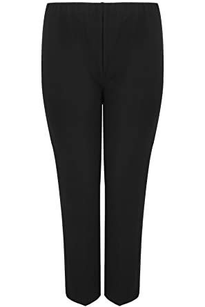 b61db8fa410a6 Yours Clothing Women s Plus Size Pull On Ribbed Bootcut Trousers - Petite  Size 26 quot