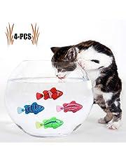 Katze Spielzeug, 4 STÜCKE Elektrische Künstliche Bewegung Fische Katze Necken Spielzeug Kätzchen Spielzeug