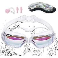 Sebami Gafas de natación, Gafas para Nadar Protección UV antivaho gogles para Natacion Gafas de natación Ajustables para Adultos y niños
