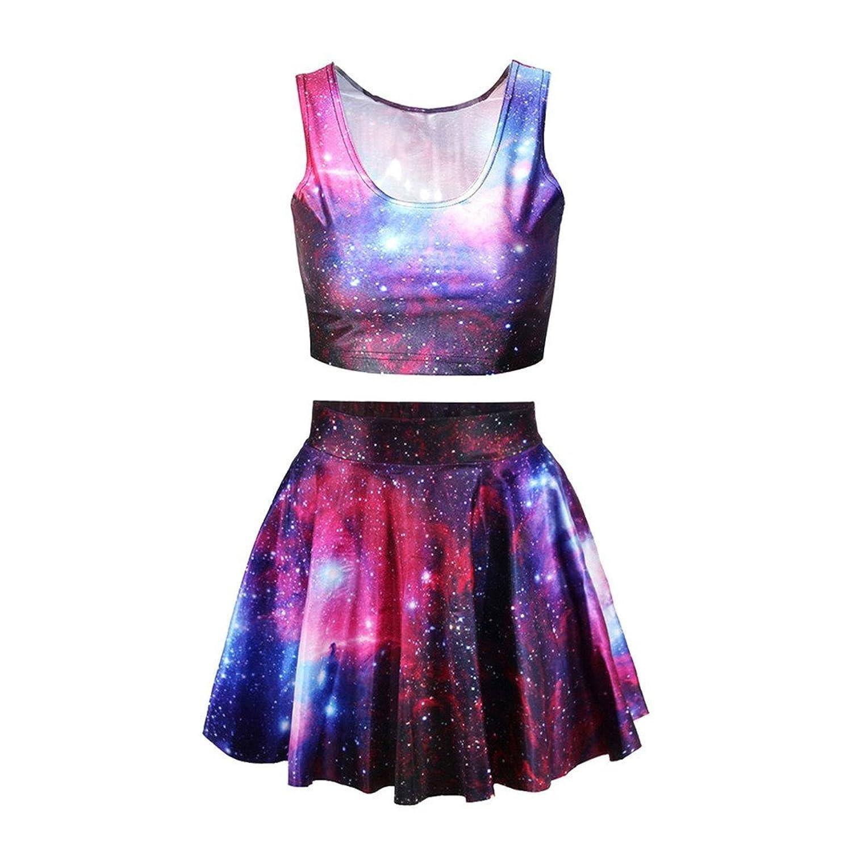 Szjsl Mujeres Universo Galaxia Impresión Vestido Niñas Vintage ...