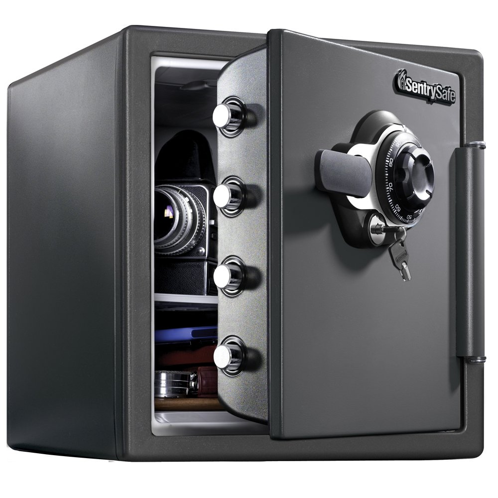SentrySafe SFW123DSB Fireproof Safe and Waterproof Safe with Dial Combination 1.23 Cubic Feet by SentrySafe