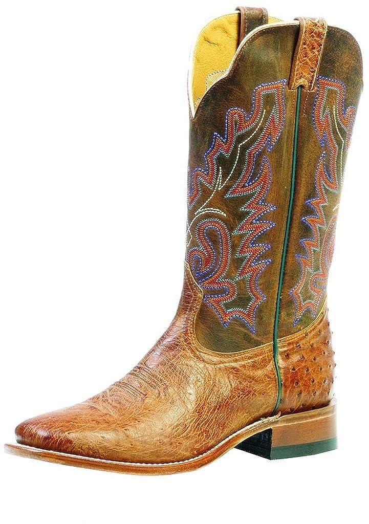 Soul Rebel Stiefel Amerikanischen – Cowboystiefel Exotische Schlangenhaut (Strauß) bo-3500 – 65-e (Fuß Normal) – Herren – Marrron