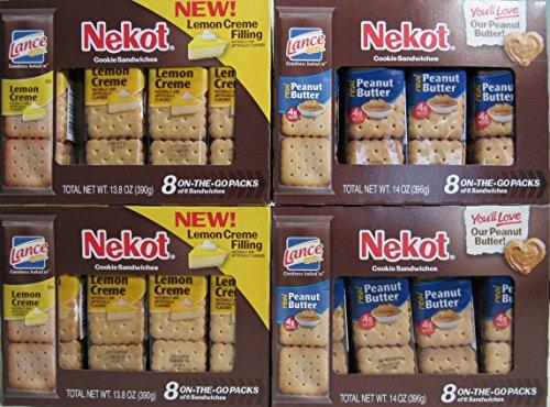 Lance Nekot Cookie Sandwiches Lemon Creme & Peanut Butter Mix Pack