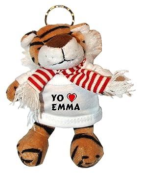 Shopzeus Tigre de Peluche (Llavero) con Amo Emma en la ...