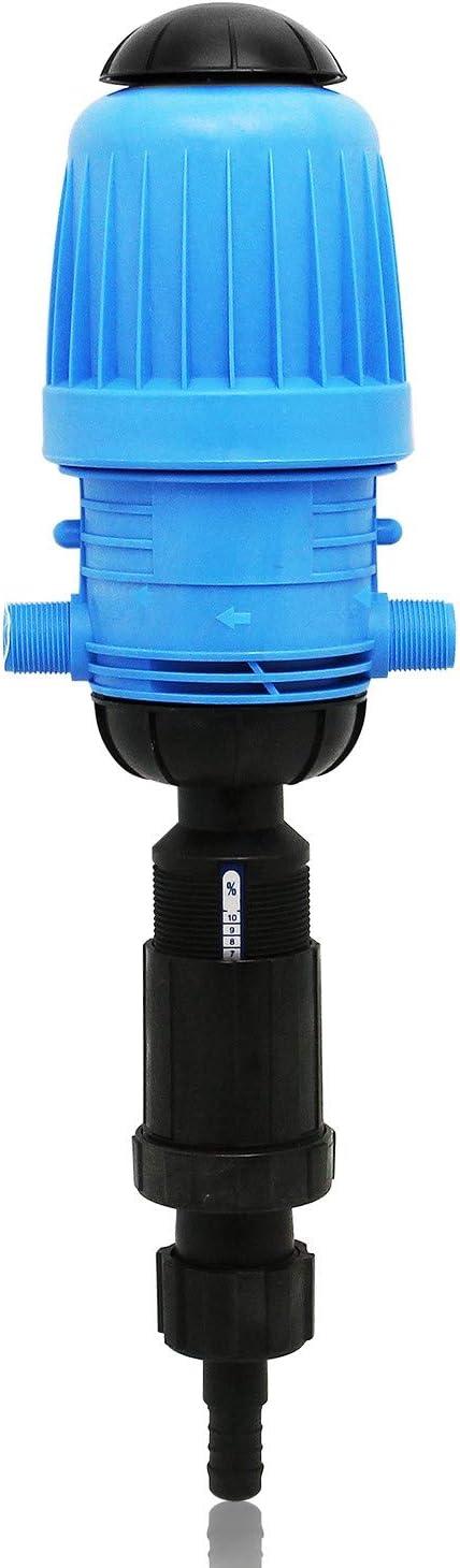 NEWTRY 1%-10% Fertilizer Injector Chemical Dispenser Drip Irrigation Liquid Flow Doser Dosing Pump for Garden Livestock Farm Industry