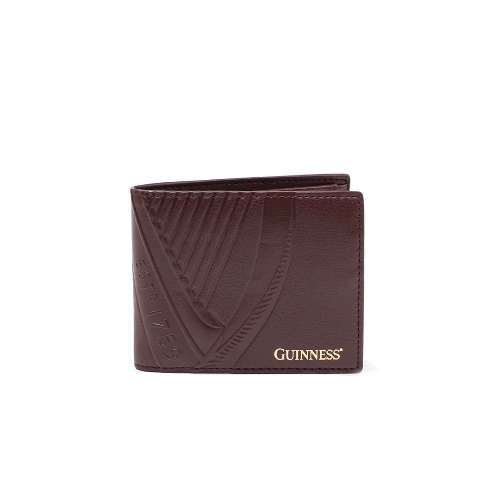 Guinness Wallet Classic Logo Official Brown Bifold by Guinness