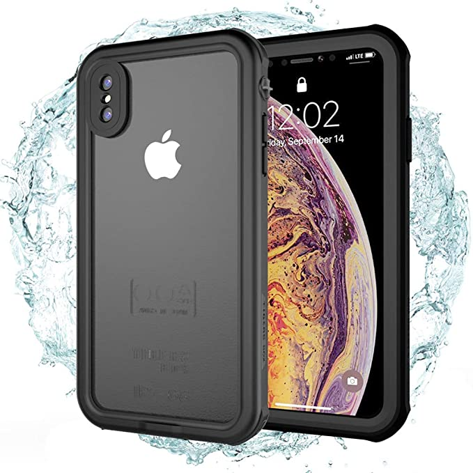 new arrival de6a0 792bb iPhone Xs Max Waterproof Case, IFCASE Slim Full Sealed Shockproof Dirtproof  IP68 Water Proof Case for iPhone Xs Max (6.5