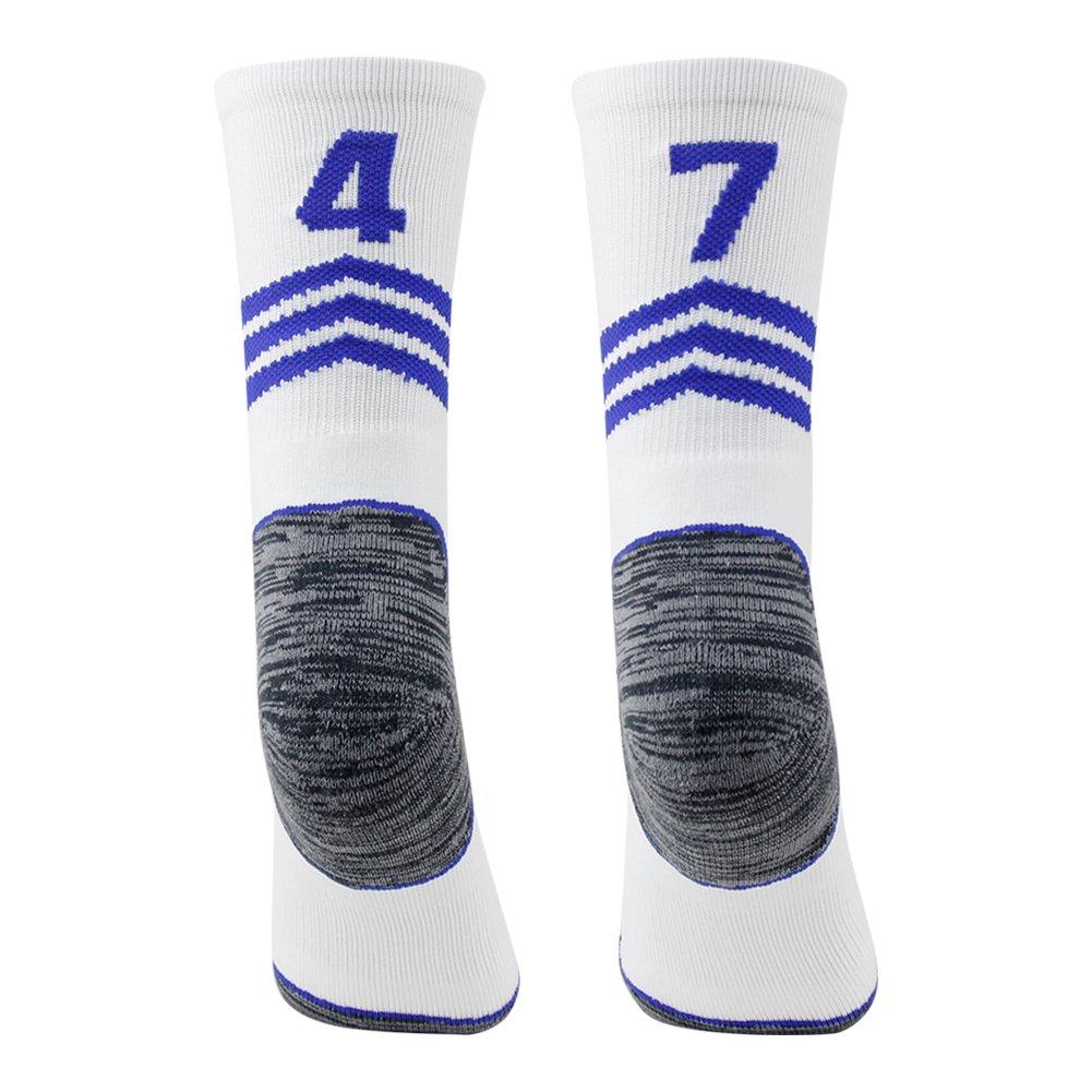 Funcat Cushioned ID Baseball Football Team Number Crew Socks 1 Pair