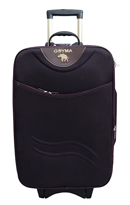 Goyma Stylish Hard Shell Expandable 20 Inches Purple Color Trolley Bag Suitcases   Trolley Bags