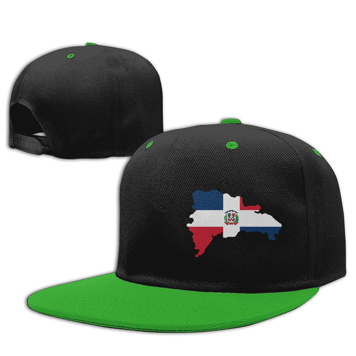 NMG-01 Women Men Hiphop Cap Dominican Republic Adults Flat Bill Baseball Caps