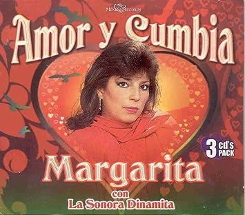 MARGARITA CON LA SONORA DINAMITA - AMOR Y CUMBIA 36 EXITOS (3CDS) - Amazon.com Music