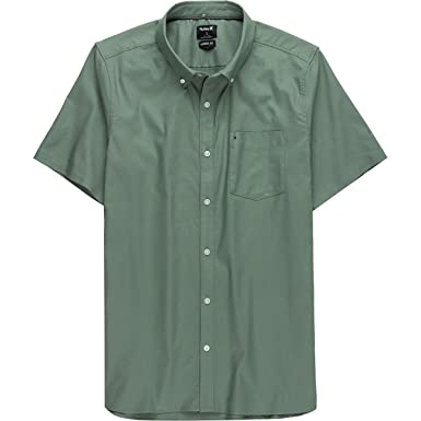b38963d031920e Amazon.com: Hurley Mens Dri-Fit One & Only Short Sleeve Woven: Clothing