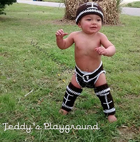 Baby Football Outfit - Hat, Diaper Cover & Leg Warmers for $<!--$54.99-->