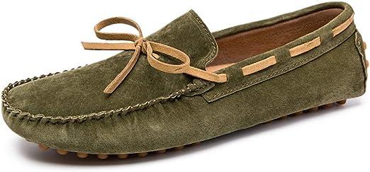 Zhulongjin Mocasines de conducción de centavo ocasionales de los hombres para los hombres Zapatos clásicos del barco Suave gamuza Mocasines de cuero genuino Cordón de los zapatos Decoración Masaje úni: Amazon.es: Hogar
