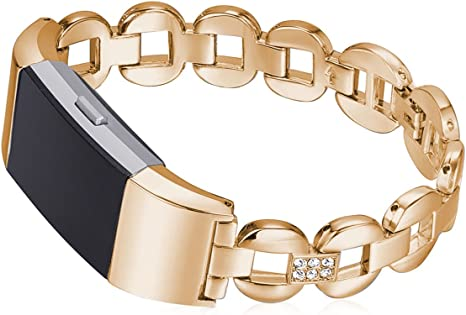 Sangle de Cuir Diadia Fitbit Alta M/étal Femme Bracelet de Rechange pour Fitbit Alta
