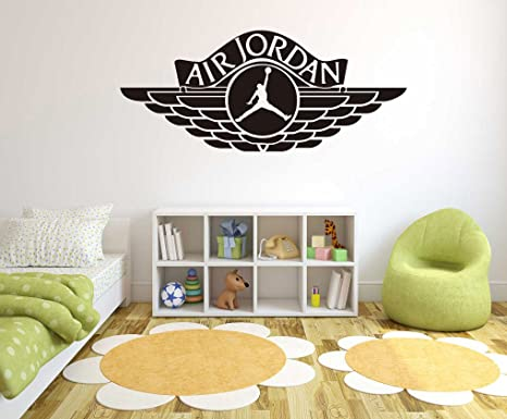 quality design 2d18d 7c022 Air Jordan Jumpman - Basketball Theme - Wall Decal For Home Nursery  Decoration (Wide 40