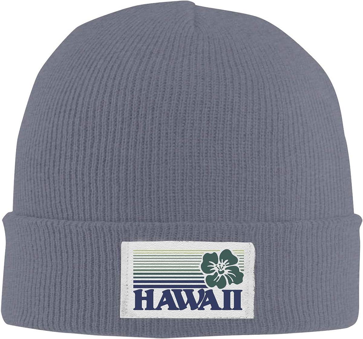 ASDGEGASFAS Unisex Hawaii Skull Cap Knit Wool Beanie Hat Stretchy Solid Daily Wear