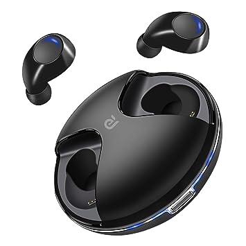 Auriculares Bluetooth, Auriculares Inalámbricos Bluetooth 5.0 True 4-5H Tiempo de Juego Graves Profundos Sonido HD Auriculares Bluetooth con Micrófono ...