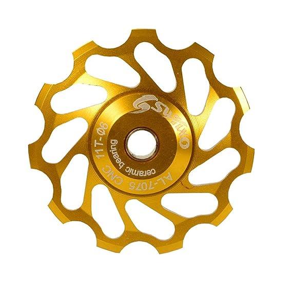 Wanpako Bicycle Pulley Jockey Wheel Bike Rear Derailleur Ceramic Jockey Pulley