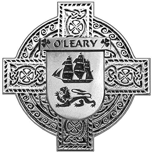 (O'Leary Irish Coat of Arms Celtic Cross Badge)