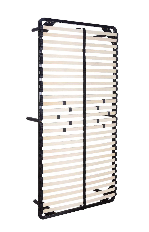 iFlair Somier Negro multiláminas con reguladores lumbares (con patas incluídas) Metalizado anticorrosion Varias medidas: Amazon.es: Hogar