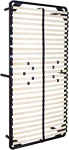 iFlair MOG CASA - Somier multiláminas 80x200 cm con reguladores lumbares con Patas incluídas - Varias Medidas