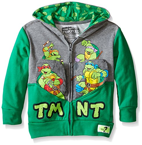 Pocket Frenz TMNT Toddler Boys Hoodie, Heather/Kelly,